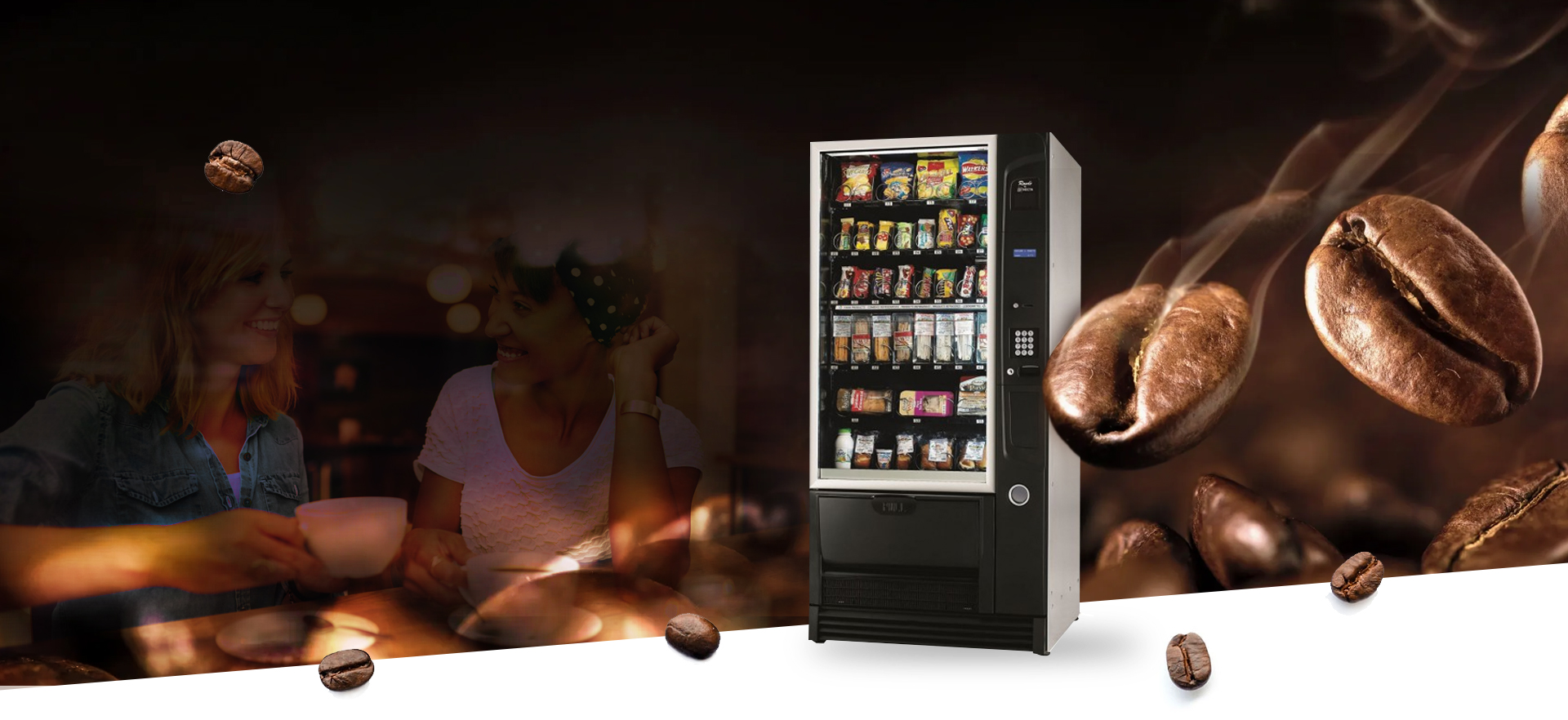 - Paketlenmiş yiyecek ve soğuk içecek- 48 farklı ürün verme özelliği- Para üstü verme özelliği